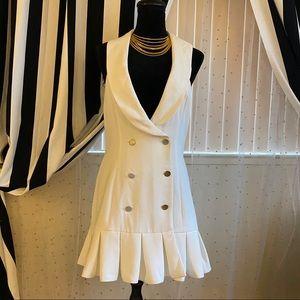 NBD white mini dress